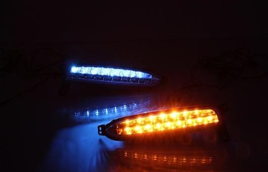 AL 適用: ホンダ XRV 2015-2016 LED DRL フォグ ランプ デイタイムランニングライト 高光度 ガイド AL-HH-0663