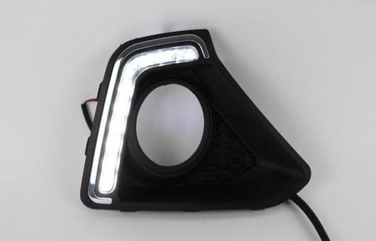 AL 適用: ヒュンダイ/現代/HYUNDAI I10 2013-2014 LED DRL 高光度 ガイド フォグ ランプ デイタイムランニングライト B スタイル AL-HH-0681
