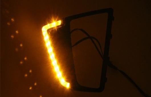 AL 適用: ヒュンダイ/現代/HYUNDAI IX25 2014-2015 LED DRL 高光度 ガイド フォグ ランプ デイタイムランニングライト L シャープ AL-HH-0687