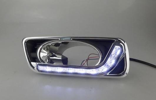 AL 適用: ホンダ シティ 2011-2015 LED DRL 高光度 ガイド デイタイムランニングライト AL-HH-0691