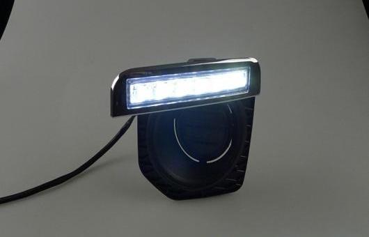 AL 適用: ランド ローバー フリーランダー 2 12-14 LED DRL 高光度 ガイド フォグ ランプ デイタイムランニングライト AL-HH-0692