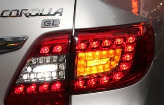 AL テール ライト 適用: トヨタ カローラ テールライト 2011-2013 LED ランプ リア トランク カバー DRL + シグナル ブレーキ リバース レッド AL-HH-0708