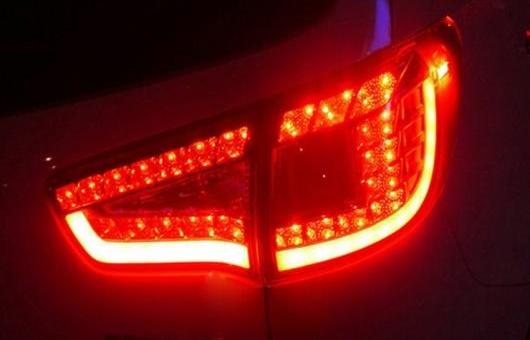 AL 適用: 起亜 スポーテージ R テールライト 2011-2014 LED テール ランプ リア DRL + ブレーキ パーク シグナル ライト レッド AL-HH-0709
