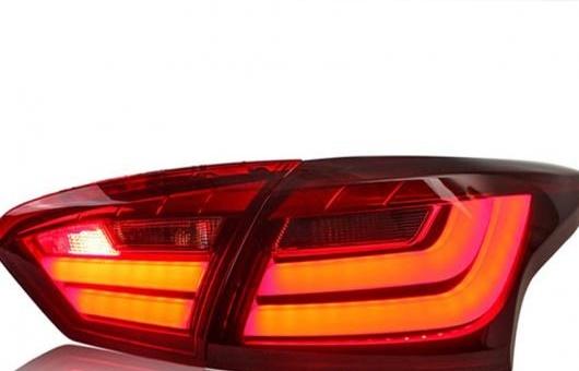 AL 適用: フォード/FORD フォーカス テールライト BMW デザイン 2012-2014 LED テール ランプ リア フォグライト 1ペア 4ピース レッド AL-HH-0721
