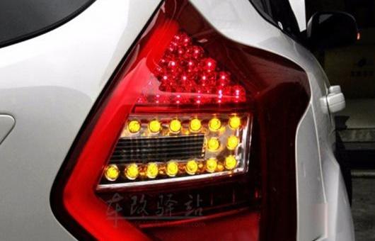 AL 適用: フォード/FORD フォーカス 2 テールライト 2012-2014 ハッチバック LED テール ランプ リア DRL + ブレーキ パーク シグナル ライト レッド AL-HH-0731