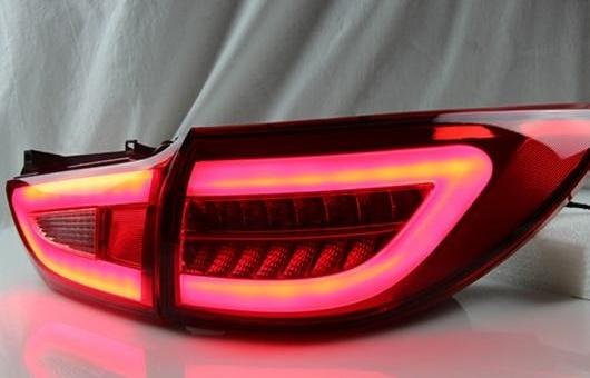 AL 適用: MAZDA6 テールライト 2014-2015 マツダ 6 LED テール ランプ リア DRL + ブレーキ パーク シグナル ライト レッド AL-HH-0761