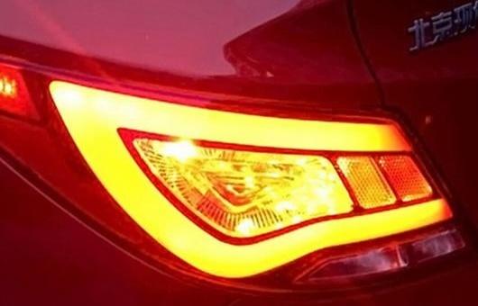 AL 適用: ヒュンダイ/現代/HYUNDAI アクセント LED テールライト 2011-2013 ソラリス テール ランプ ヴェルナ リア DRL + ブレーキ パーク シグナル ライト レッド AL-HH-0762