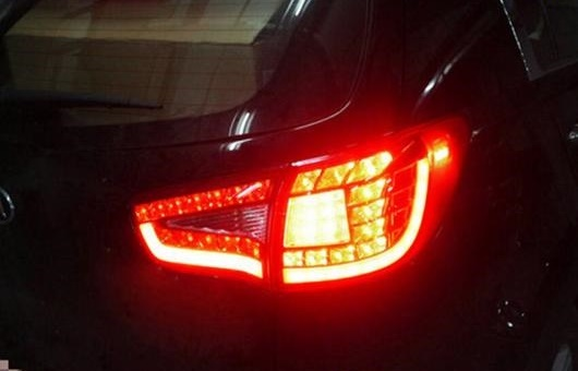 AL 適用: 起亜 スポーテージ R テールライト 2010-2014 LED テール ランプ リア DRL + ブレーキ パーク シグナル ライト レッド AL-HH-0766