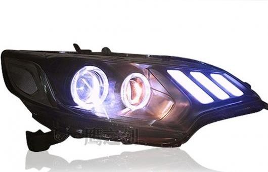 AL 適用: ホンダ フィット LED ヘッドライト ヘッドランプ エンジェル アイ DRL フロント ライト バイキセノン レンズ キセノン HID キット 4300K~8000K 35W・55W AL-HH-0789