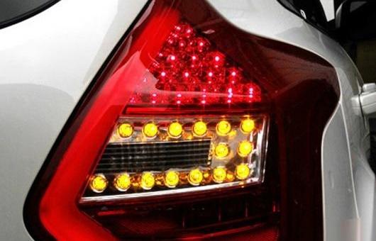 AL 適用: フォード/FORD フォーカス テールライト アセンブリ 2012-2014 ティグアン LED テール ライト リア ランプ DRL + ブレーキ パーク レッド AL-HH-0790