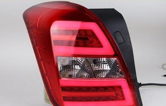 AL 適用: シボレー/CHEVROLET トラッカー テールライト 2014-2015 トラック LED テール ランプ リア DRL + ブレーキ パーク シグナル ライト レッド AL-HH-0797