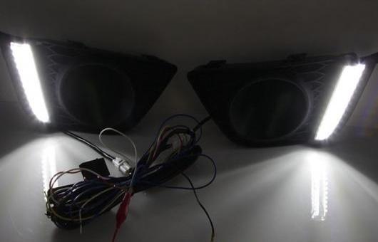 AL 適用: ホンダ フィット 2014-2016 LED DRL フォグ ランプ デイタイム ランニング 高光度 ガイド ライト 35W ホワイト・ブルー 5500K AL-HH-0810