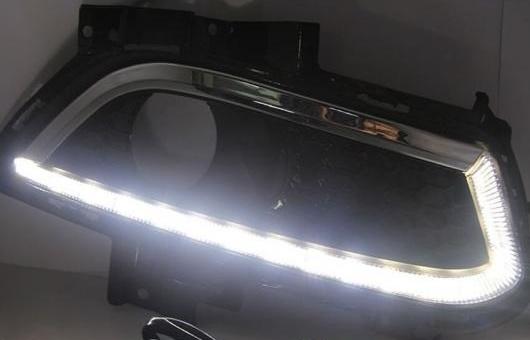 AL 適用: フォード/FORD モンデオ 13-15 LED DRL フォグ ランプ デイタイム ランニング 高光度 ガイド ライト 35W ホワイト 5500K AL-HH-0812