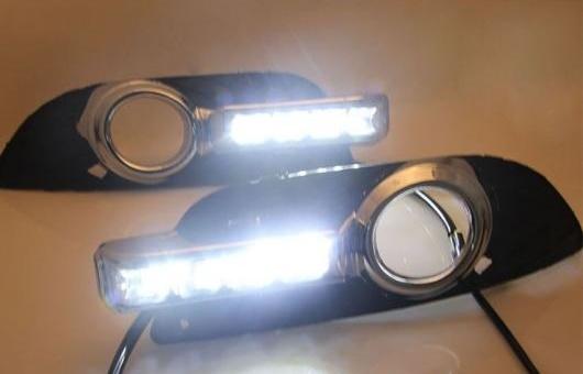 AL 適用: 三菱 ランサーEX LED DRL フォグ ランプ デイタイム ランニング 高光度 ガイド ライト 35W ホワイト 5500K AL-HH-0820
