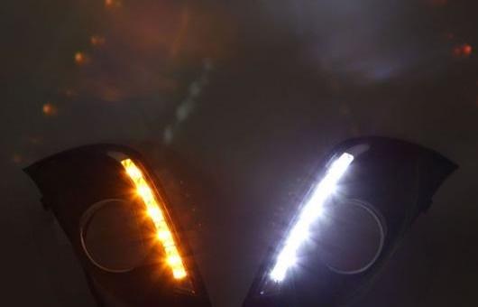 AL 適用: フォード/FORD フォーカス LED DRL フォグ ランプ デイタイム ランニング 高光度 ガイド ライト 35W ホワイト・イエロー 5500K AL-HH-0827