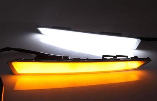 AL 適用: フォード/FORD エスケープ 14-17 LED DRL フォグ ランプ デイタイム ランニング 高光度 ガイド ライト 35W ホワイト・イエロー 5500K AL-HH-0831
