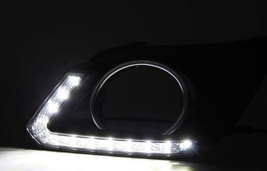 AL 適用: 日産 X-TRAI 11-13 LED DRL フォグ ランプ デイタイム ランニング 高光度 ガイド ライト 35W ホワイト・イエロー 5500K AL-HH-0837