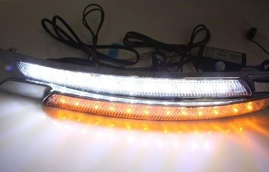 AL 適用: 日産 アルティマ 08-09 LED DRL フォグ ランプ デイタイム ランニング 高光度 ガイド ライト 35W ホワイト・イエロー 5500K AL-HH-0852