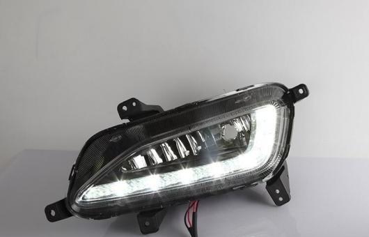 AL 適用: ヒュンダイ/現代/HYUNDAI ツーソン 16-17 LED DRL フォグ ランプ デイタイム ランニング 高光度 ガイド ライト 35W ホワイト 5500K AL-HH-0858