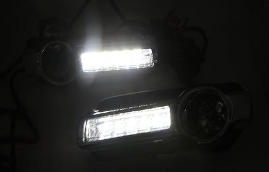AL 適用: 三菱 パジェロ 15-17 LED DRL フォグ ランプ デイタイム ランニング 高光度 ガイド ライト 35W ホワイト・イエロー 5500K AL-HH-0885