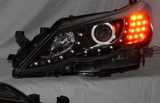AL ヘッドランプ 適用: トヨタ レイツ/マークX 2010-2013 LED ヘッドライト DRL H7/D2H HID キセノン BI レンズ 4300K~8000K 35W・55W AL-HH-0889