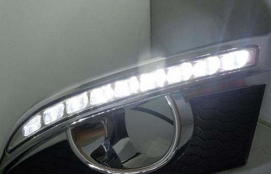 AL LED DRL フォグライト デイタイムランニングライト フォグ LI 適用: シボレー/CHEVROLET キャプティバ 2011-2013 2ピース PER セット 35W ホワイト 5500K AL-HH-0892