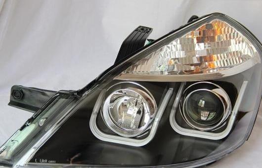 AL オート ライト スタイル LED ヘッドランプ 適用: ビュイック/BUICK エクセル ヘッドライト 2008-2013 DRL H7 HID Q5 バイキセノン レンズ エンジェル アイ ロー 4300K~8000K 35W・55W AL-HH-0898