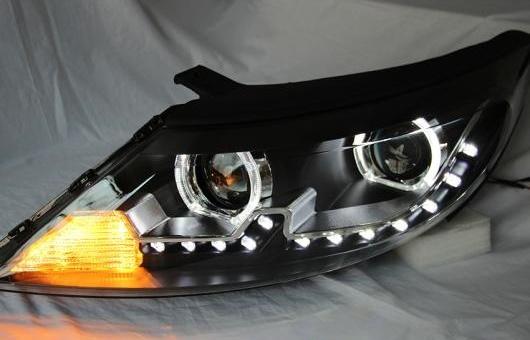 AL ヘッドランプ 適用: 起亜 スポーテージ R 2010-2012 LED ヘッドライト DRL H7/D2H HID キセノン BI レンズ 4300K~8000K 35W・55W AL-HH-0914