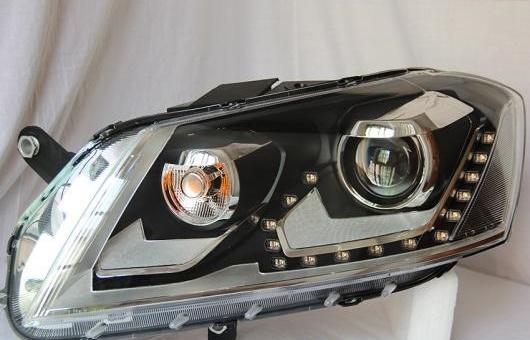 AL 適用: ヨーロッパ仕様 VW パサート LED ヘッドライト 2012 ヘッドランプ アセンブリ ターン ライト DRL レンズ H7 HID キセノン BI 4300K~8000K 35W・55W AL-HH-0918