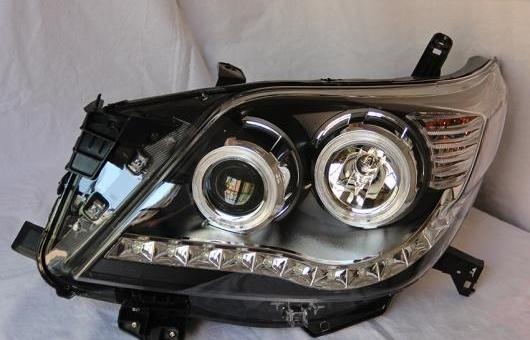AL ヘッドランプ 適用: トヨタ プラド FJ150 2010-2013 LED ヘッドライト DRL H7/D2H HID キセノン BI レンズ 4300K~8000K 35W・55W AL-HH-0926