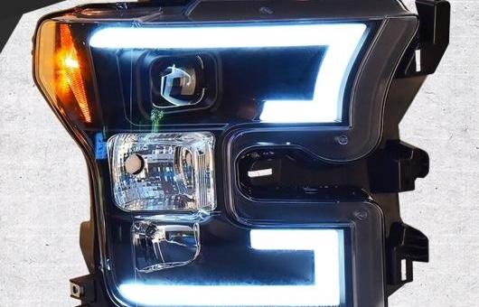 AL ヘッドライト 適用: フォード/FORD F150 2015-2016 LED ヘッドランプ デイタイムランニングライト DRL バイキセノン HID 4300K~8000K 35W・55W AL-HH-0946