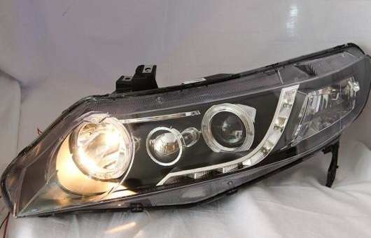 AL ヘッドランプ 適用: ホンダ シビック LED ヘッドライト DRL H7/D2H HID キセノン BI レンズ 4300K~8000K 35W・55W AL-HH-0950