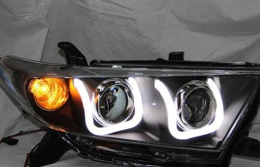 AL ヘッドランプ 適用: トヨタ HIGHLANDERUSTYLE2012-2013 LED ヘッドライト DRL H7/D2H HID キセノン BI レンズ 4300K~8000K 35W・55W AL-HH-0955