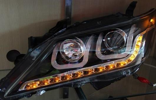 AL ヘッドランプ 適用: トヨタ カムリ U スタイル 2012-2013 LED ヘッドライト DRL H7/D2H HID キセノン BI レンズ 4300K~8000K 35W・55W AL-HH-0962