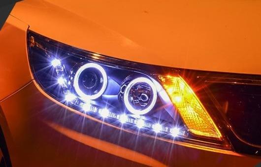 AL ヘッドライト 適用: 起亜 K2 2011-2012 LED ヘッドランプ デイタイムランニングライト DRL バイキセノン HID 4300K~8000K 35W・55W AL-HH-0966