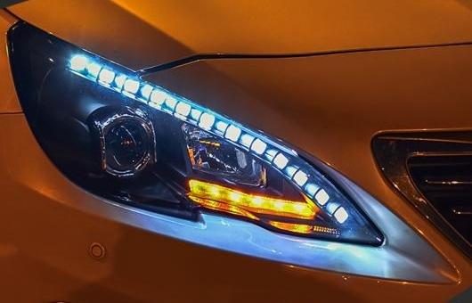 AL 適用: プジョー/PEUGEOT 408 ヘッドライト 2015-2016 LED DRL BI キセノン レンズ ハイ ロー ビーム パーキング 4300K~8000K 35W・55W AL-HH-0987