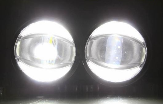 AL デイタイムランニングライト 適用: 三菱 パジェロ フォグ ライト オート エンジェル アイ フォグランプ LED DRL ハイ&ロー ビーム 6000K 35W AL-HH-1066