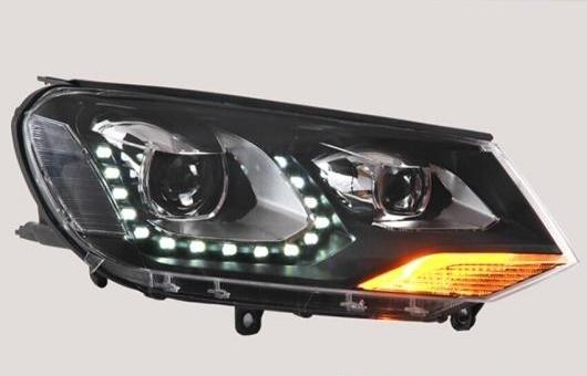 AL LED ヘッドランプ 適用: VW フォルクスワーゲン/VOLKSWAGEN トゥアレグ ヘッドライト 2011-2015 DRL H7 HID Q5 バイキセノン レンズ ロー ビーム 4300K~8000K 35W・55W AL-HH-1109