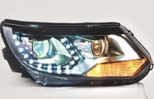 AL LED ヘッドランプ 適用: VW フォルクスワーゲン/VOLKSWAGEN ティグアン ヘッドライト 2013-2016 DRL H7 HID Q5 バイキセノン レンズ ロー ビーム 4300K~8000K 35W・55W AL-HH-1122