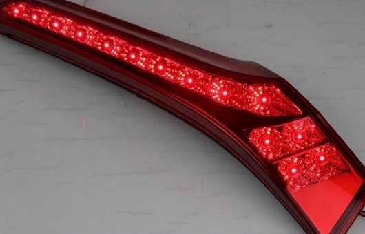 AL 適用: テール ライト 2014 ホンダ フィット LED リア フォグ ランプ DRL ブレーキ + パーク シグナル レッド AL-HH-1137