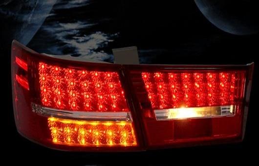 AL 適用: ヒュンダイ/現代/HYUNDAI ソナタ NF LED テールライト 2006-2013 テール ライト リア ランプ DRL + ブレーキ パーク シグナル レッド AL-HH-1144
