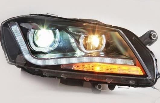 AL 適用: フォルクスワーゲン/VOLKSWAGEN LED ヘッドランプ ヘッドライト 2012-2015 パサート DRL H7 HID Q5 バイキセノン レンズ ロー ビーム 4300K~8000K 35W・55W AL-HH-1147