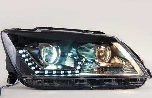 AL LED ヘッドランプ 適用: VW フォルクスワーゲン/VOLKSWAGEN サンタナ ヘッドライト 2013-2015 DRL H7 HID Q5 バイキセノン レンズ ロー ビーム 4300K~8000K 35W・55W AL-HH-1149