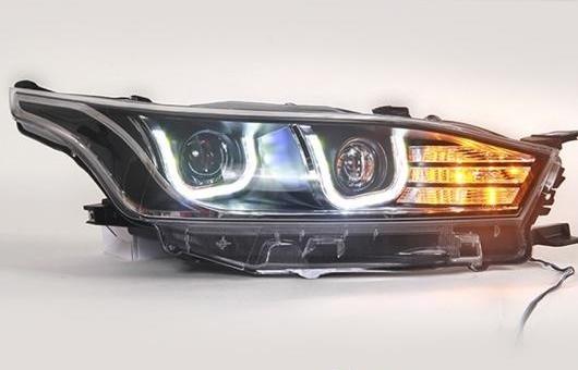 AL 適用: トヨタ LED ヘッドランプ ヘッドライト 2012-2015 パサート DRL H7 HID Q5 バイキセノン レンズ ロー ビーム 4300K~8000K 35W・55W AL-HH-1150