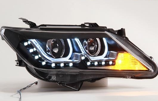 AL ヘッドランプ 適用: トヨタ カムリ 12-14 LED ヘッドライト DRL デイタイムランニングライト バイキセノン HID 4300K~8000K 35W・55W AL-HH-1151