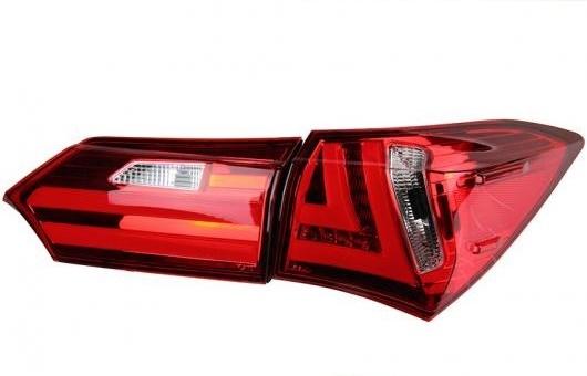 AL 適用: テール ライト 2014-2017 トヨタ カローラ LED リア フォグ ランプ DRL ブレーキ + パーク シグナル レッド AL-HH-1157