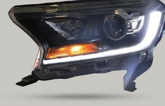 AL ヘッドランプ 適用: フォード/FORD レンジャー エベレスト マスタング 2016 ヘッドライト LED エンジェル アイ DRL バイキセノン レンズ ダイナミック シグナル 4300K~8000K 35W・55W AL-HH-1176