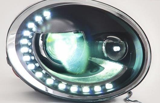 AL LED ヘッドランプ 適用: VW フォルクスワーゲン/VOLKSWAGEN ビートル ヘッドライト 2013-2015 DRL H7 HID Q5 バイキセノン レンズ ロー ビーム 4300K~8000K 35W・55W AL-HH-1180