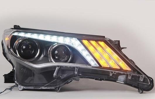 AL LED ヘッドランプ 適用: トヨタ RAV4 ヘッドライト 2013-2015 DRL H7 HID Q5 バイキセノン レンズ ロー ビーム 4300K~8000K 35W・55W AL-HH-1192