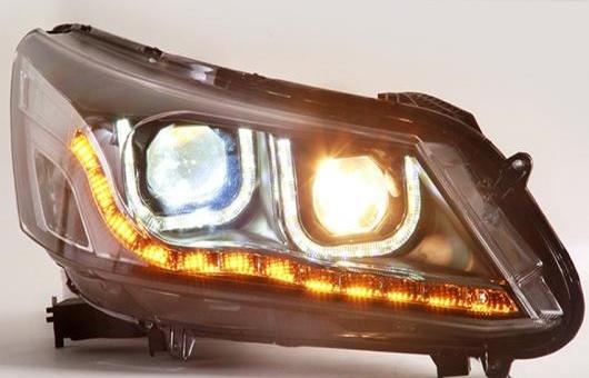 AL LED ヘッドランプ 適用: ホンダ アコード ヘッドライト 2014-2015 DRL H7 HID Q5 バイキセノン レンズ ロー ビーム 4300K~8000K 35W・55W AL-HH-1195